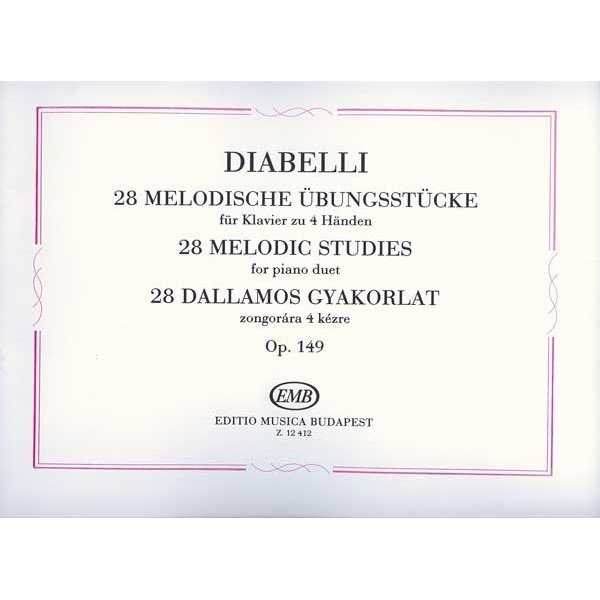 Diabelli, Anton - 28 Melodic Studies - within the range of a fifth for piano duet