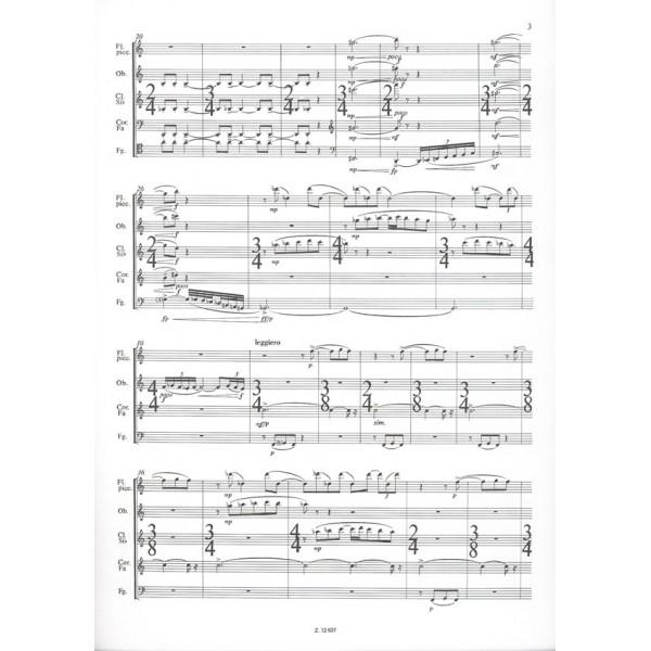 Csemiczky Miklós - Capriccios, Epitaphs And Choral - in memoriam I. Stravinsky, for wind quintet