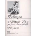 Bellinzani, Paolo Benedetto - 4 Sonate Per Flauto E Basso Continuo - (No.3,8,11,12)
