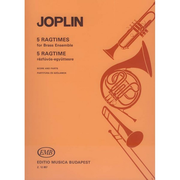 Joplin, Scott - 5 Ragtimes - for brass ensemble