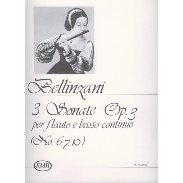 Bellinzani, Paolo Benedetto - 3 Sonatas For Flute And Basso Continuo