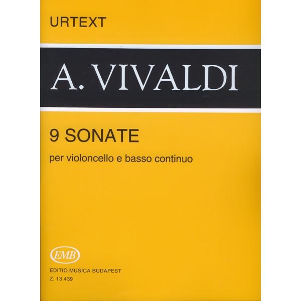 Vivaldi, Antonio - 9 Sonate - per violoncello e basso continuo