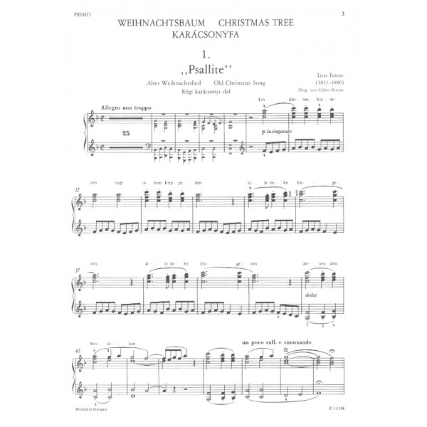 Liszt Ferenc - Christmas Tree - for piano duet