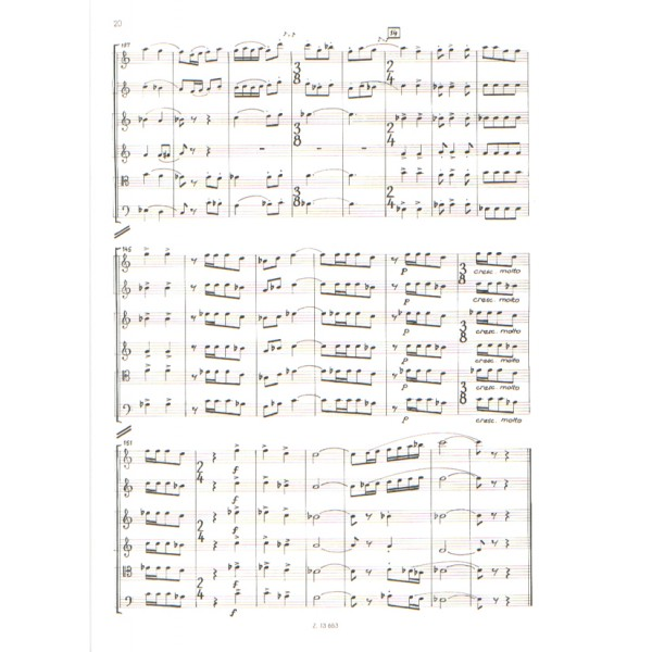 Hidas Frigyes - 5 Miniatures For Wind Instruments - (two clarinets, two horns and two bassoons)