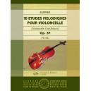 Kummer, Friedrich August - 10 études mélodiques - (violoncello II ad lib.)