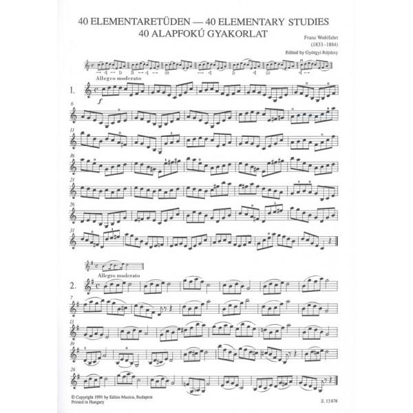 Wohlfahrt, F. - 40 Elementary Studies