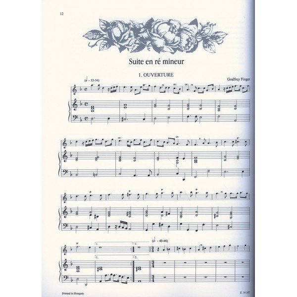 34 English Airs - for treble recorder (flute, violin) and continuo