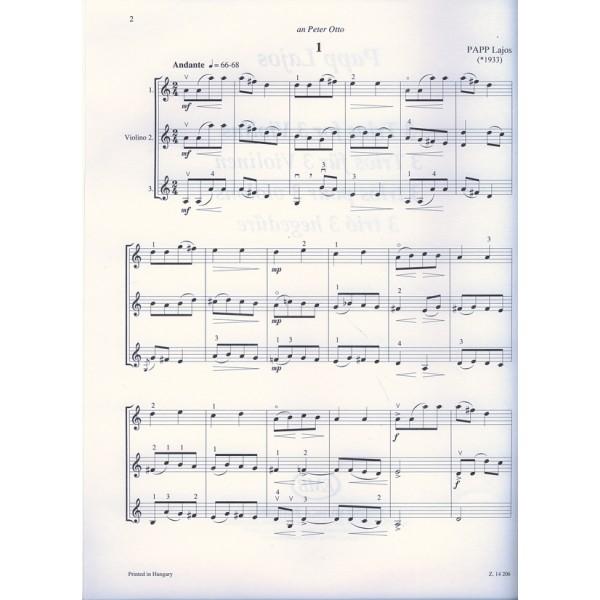 Papp Lajos - 3 Trios For 3 Violins