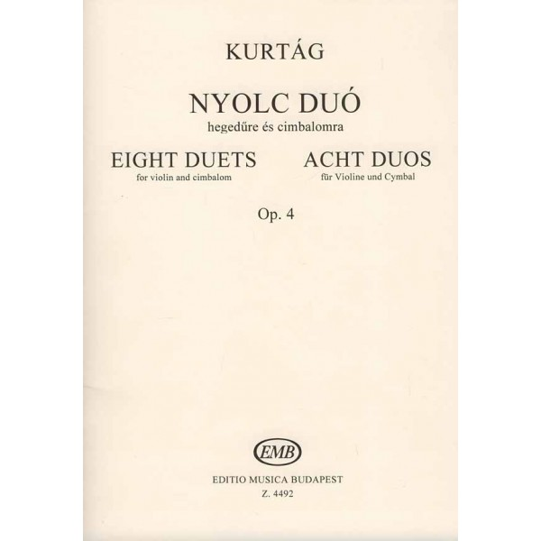 Kurtág György - Eight Duos For Violin And Cimbalom