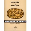 Bartók Béla, Kodály Zoltán - Hungarian Folksongs - for voice and piano