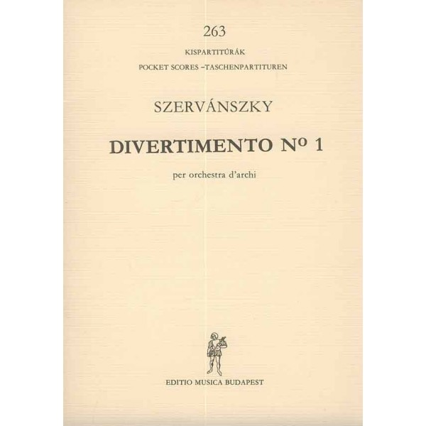 Szervánszky Endre - Divertimento No. 1 - for string orchestra