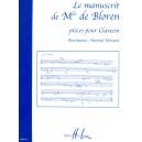 Manuscrit De Melle De Bloren
