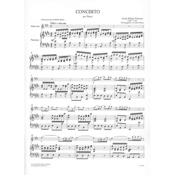 Telemann, Georg Philipp - Concerto In Mi Maggiore - per flauto, archi e cembalo