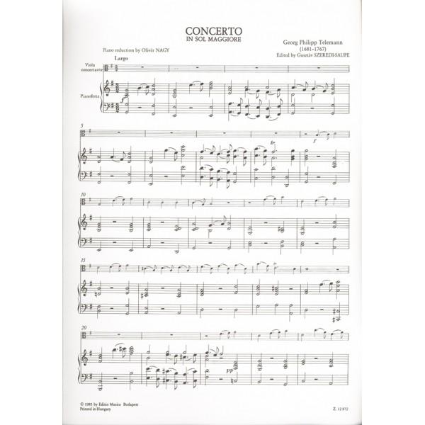 Telemann, Georg Philipp - Concerto In Sol Maggiore - per viola  (o violoncello) e orchestra