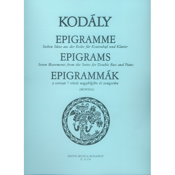 Kodály Zoltán - Epigrams - Seven Movements from the Series for double bass and piano