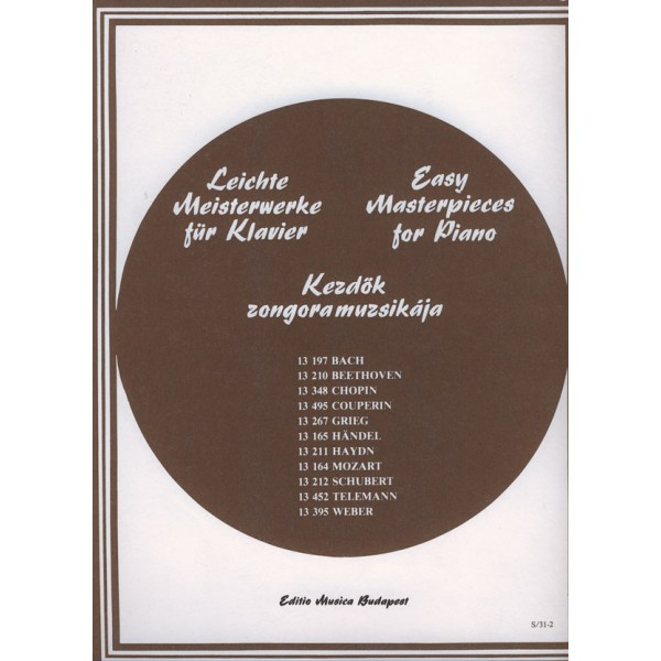 Bach, Johann Sebastian - Easy Masterpieces For Piano - Bach, J. S.