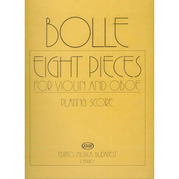 Bolle, James - Eight Pieces - for violin and oboe