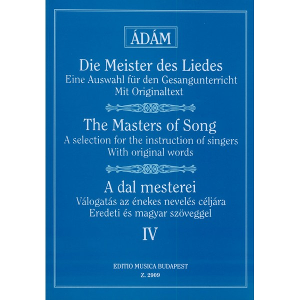 The Masters Of Song - Early Italian, French, English and German Masters (high voice)