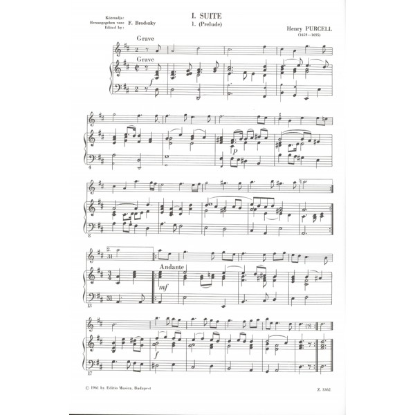 Purcell, Henry - Pieces For Violin And Piano