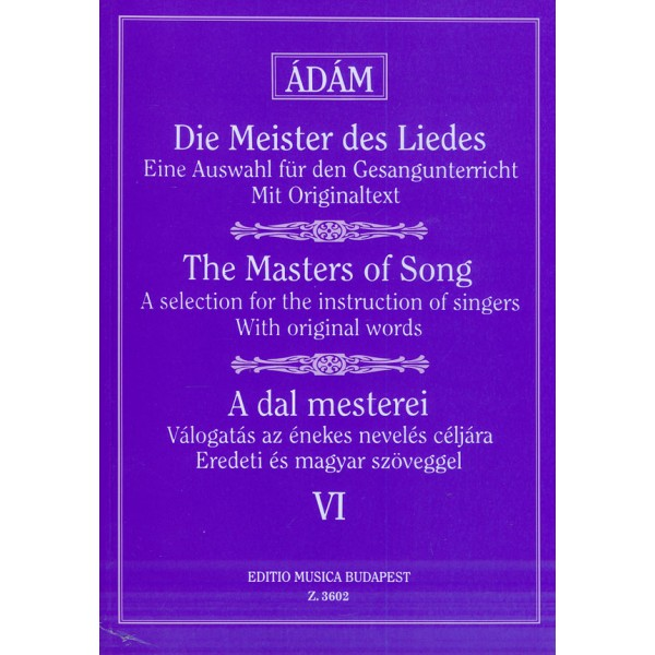 The Masters Of Song - Early Italian, French, English and German Masters (low voice)