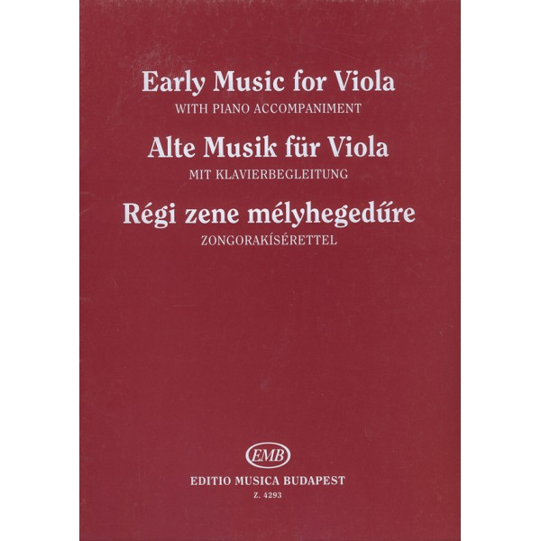 Early Music For Viola - Music of the 17-18. centuries