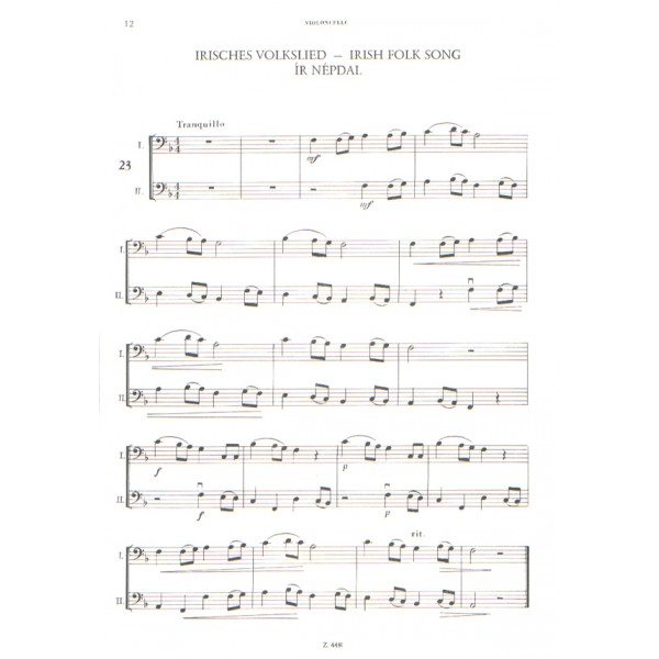 Performance Pieces For Violoncello With Piano Accompaniment