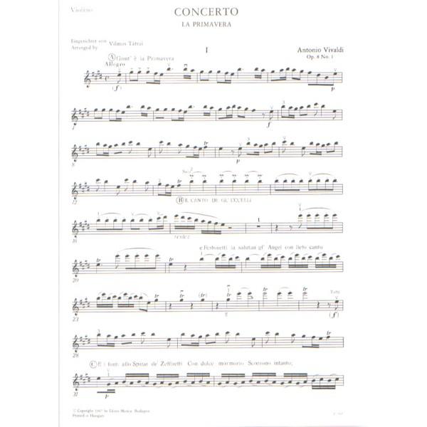 Vivaldi, Antonio - Le Quattro Stagioni, Op. 8 - no. 1 La primavera RV 269 (F. I. No. 22, P.V. 241)