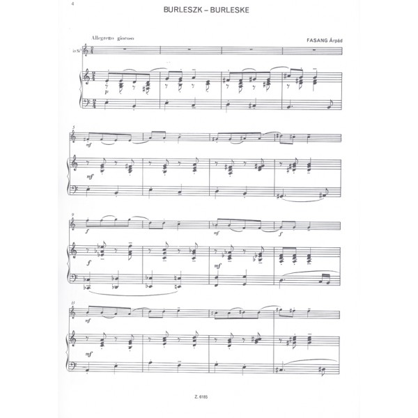 Performance Pieces By Hungarian Composers - for trumpet and piano