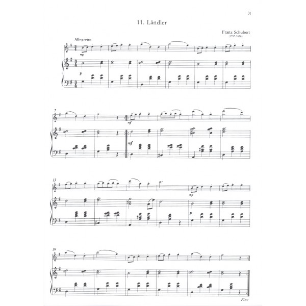 Performance Pieces For Violin And Piano - to the Vols. 5-6 of the Violin Tutor