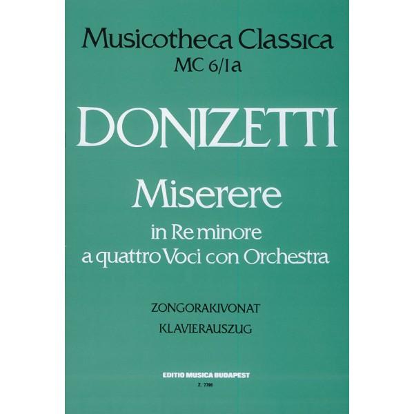 Donizetti, Gaetano - Miserere In Re Minore - a quttro voci con orchestra