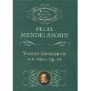 Felix Mendelssohn: Violin Concerto In E Minor (Miniature Score) - Mendelssohn, Felix (Artist)