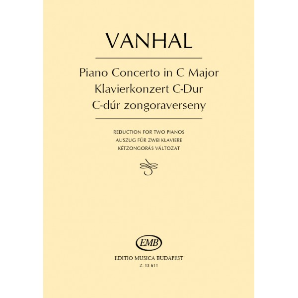 Vanhal, Johann Baptist - Piano Concerto In C Major - Reduction for two pianos