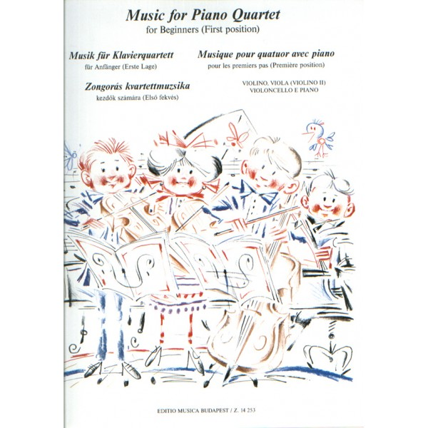 Music For Piano Quartet For Beginners (first Position)