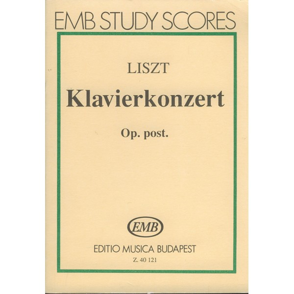 Liszt Ferenc - Piano Concerto In E-flat Major, Op. Post.