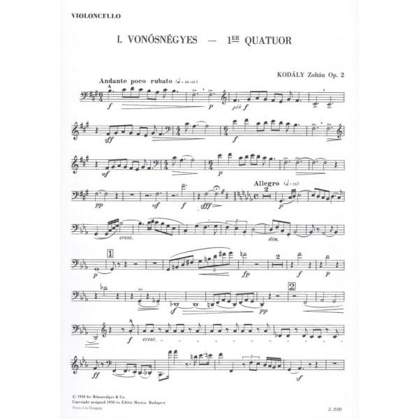 Kodály Zoltán - String Quartet No. 1