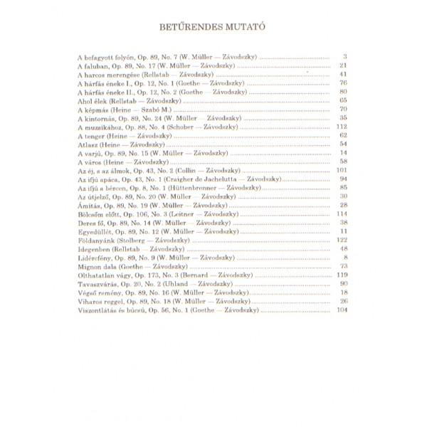 Schubert, Franz - Songs For Medium Voice