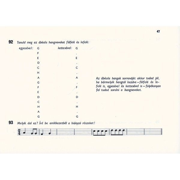 József Andrásné, Szmrecsányi Magda - Preparatory Musical Training - Exercise Book