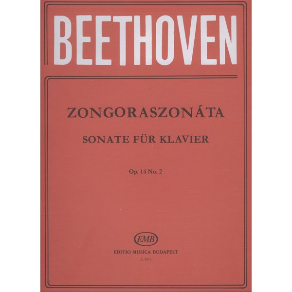 Beethoven, Ludwig van - Sonatas For Piano In Separate Editions - op. 14 no. 2, G major