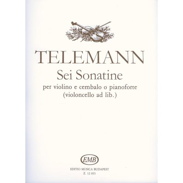 Telemann, Georg Philipp - Sei Sonatine - for violin and harpsichord (piano)