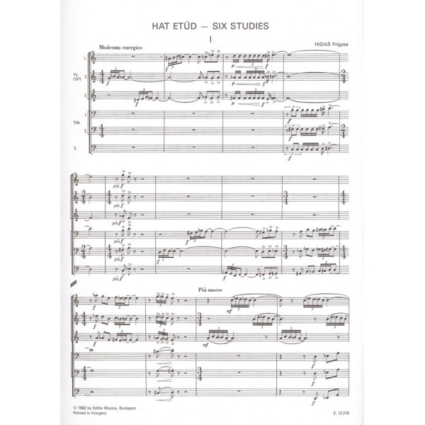 Hidas Frigyes - Six Studies For Brass Sextet