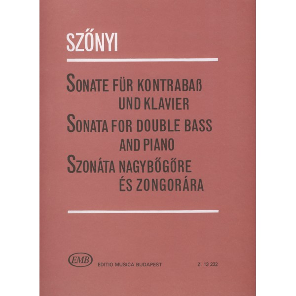 Sz_nyi Erzsébet - Sonata - for double bass and piano