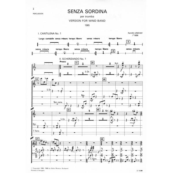 Lendvay Kamilló - Senza Sordina - for trumpet and wind band
