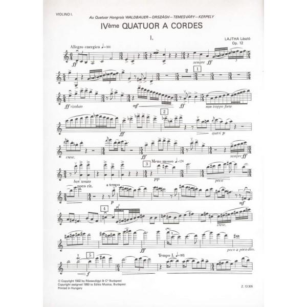 Lajtha László - String Quartet No. 4