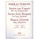 Farkas Ferenc - Scenes From Hungary - for four clarinets