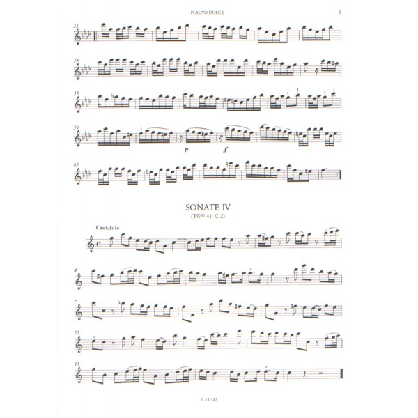 Telemann, Georg Philipp - Sonatas - for recordes and basso continuo