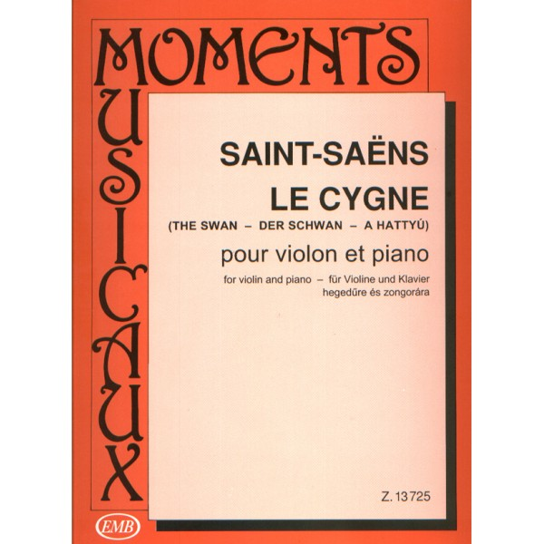 Saint-Saens, Camille - The Swan - for violin and piano