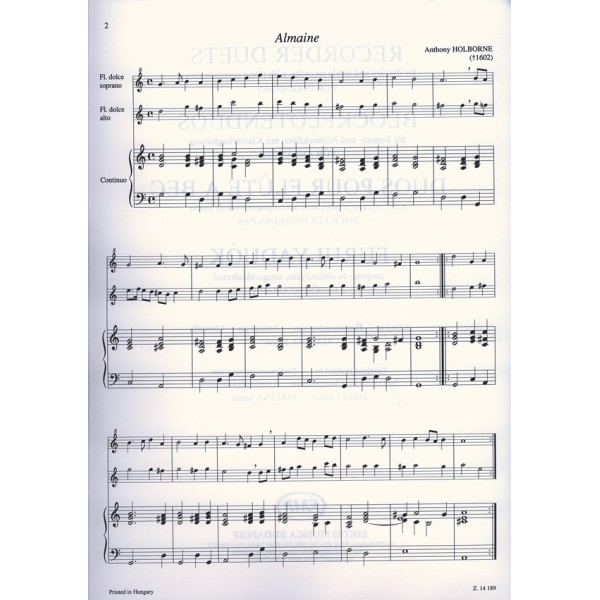 Recorder Duets (descant And Treble Recorder) - with piano accompaniment for Beginners