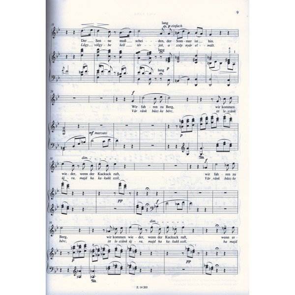 Liszt Ferenc - Selected Songs With Original Words - for soprano or tenor voice and piano