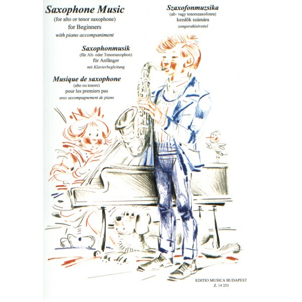 Saxophone Music (for Alto Or Tenor Saxophone, With Piano Accompaniment) For Beginners