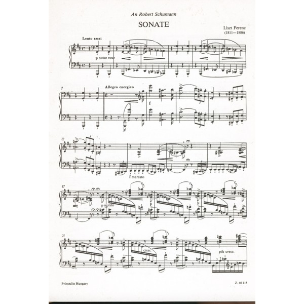 Liszt Ferenc - Sonata In B Minor - for piano